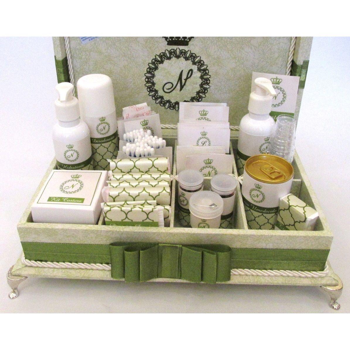 Caixa de toalete - kit de casamento - Vert