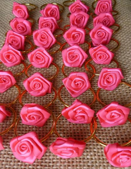 Porta-Guardanapo para casamento - Flor Pink
