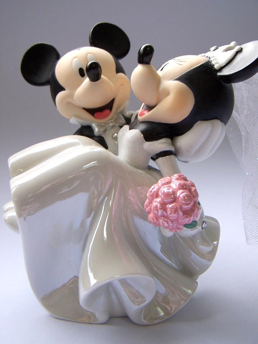 Topo para Bolo - Mickey e MInnie Apaixonados