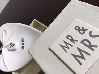 Porta Alianças de Casamento - Mr e Mrs