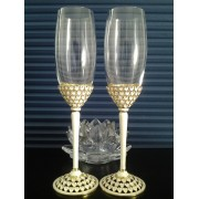 Taças para Casamento - Brinde dos Noivos - Golden