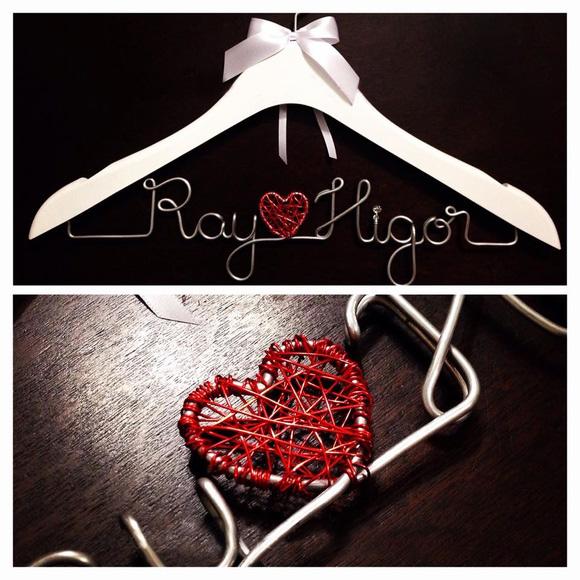 Cabide Personalizado Coração Vermelho