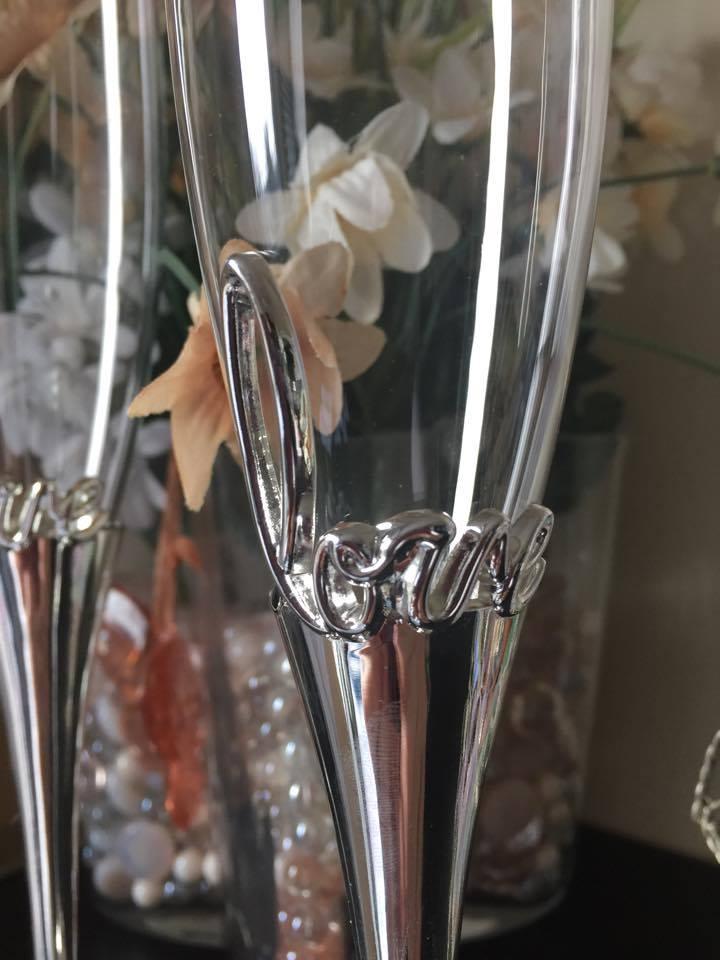 Taças para Casamento - Brinde dos Noivos - Love