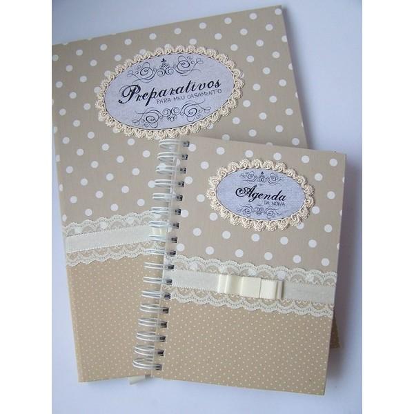 Kit de Agenda da Noiva e Pasta da Noiva Charming