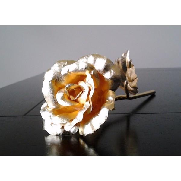 Lembrança para padrinhos de casamento -  Rosa Dourada