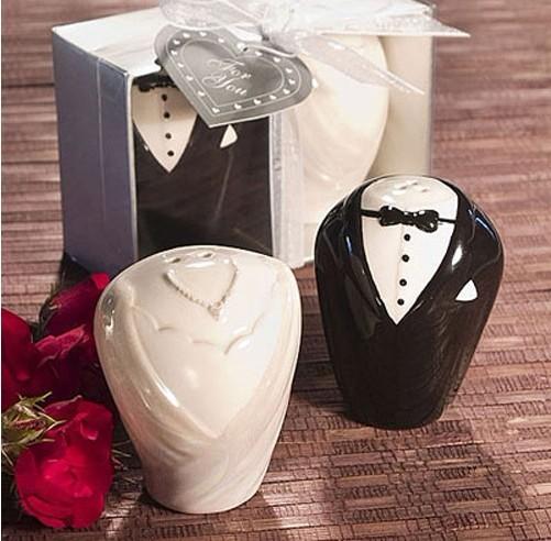 Porta-Temperos Noivos Elegantes - Lembrança para Padrinhos ou convidados