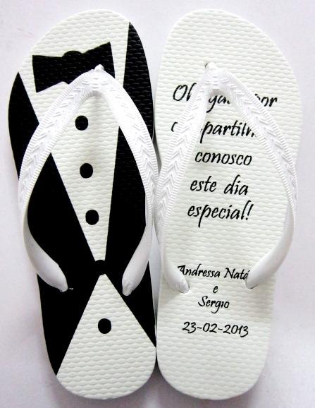 Chinelo para casamento - Personalizado Noivinhos 05
