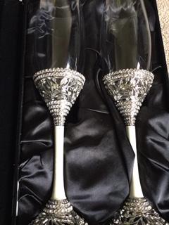Taças para Casamento - Brinde dos Noivos - Elegance