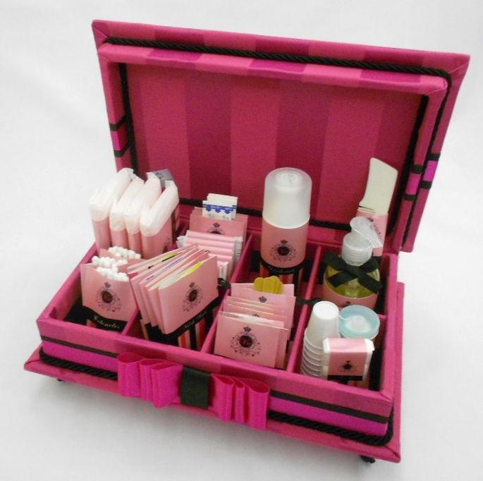 Caixa de toalete - kit de casamento - Esplêndido