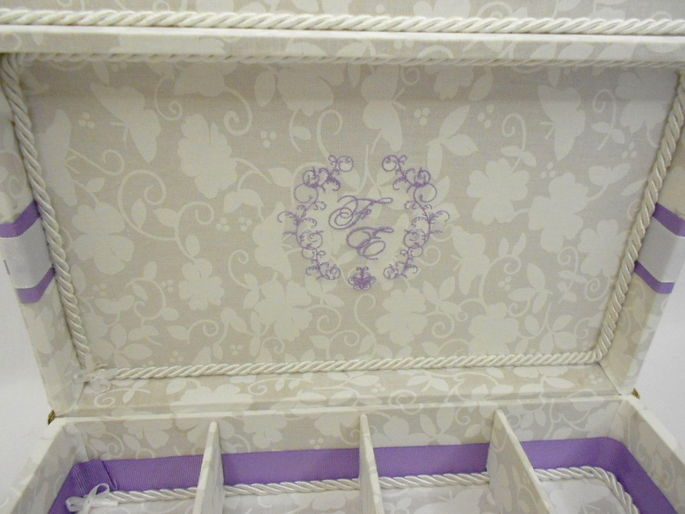 Caixa de toalete - kit de casamento - Super Romântica
