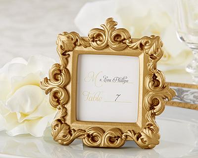 Mini Porta-Retrato ou Marcador de Mesa Dourado - Lembrança para Padrinhos ou Convidados