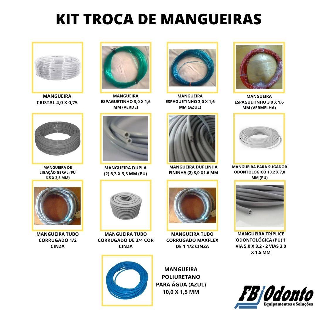KIT DE TROCA DE TODAS AS MANGUEIRAS DO EQ./UND. DE ÁGUA /CX. DE COMANDO - TODAS AS MARCAS