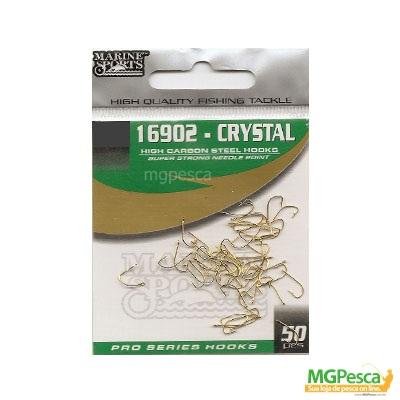 Anzol Marine Sports 16902 - Cristal Gold  01 - 02 - 04 - 06 - 08 - 10 - 12 - 14 - 16 - Pacotes com 50 unidades  - MGPesca