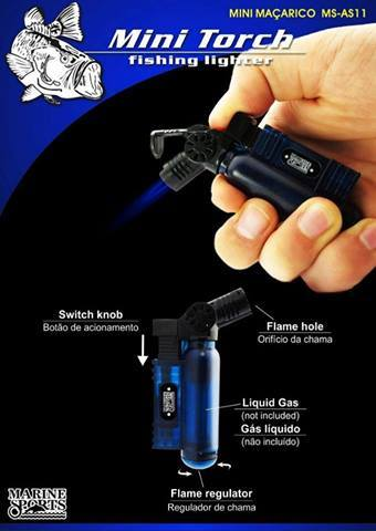 Mini maçarico Marine Sports Mini Torch - MS-AS11  - MGPesca
