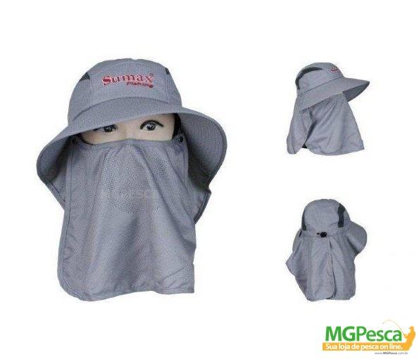 Chapéu Sumax com proteção UV e protetor de ombros - SB-1304  - MGPesca