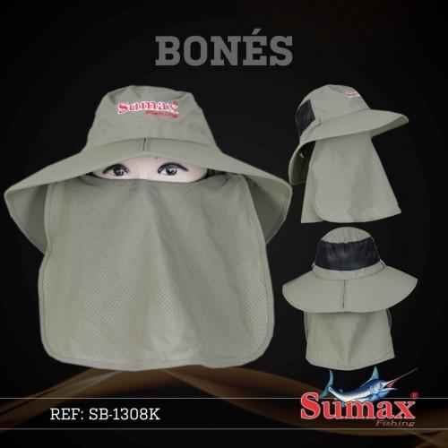 Chapéu Sumax com proteção UV e protetor de ombros - SB-1308K  - MGPesca