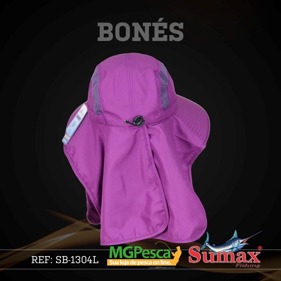 Chapéu Sumax com proteção UV e protetor de ombros - SB-1304L  - MGPesca