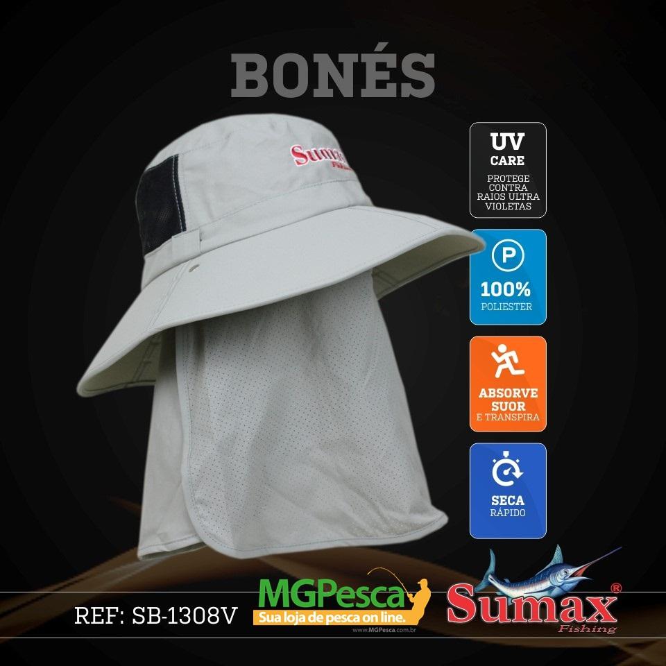 Chapéu Sumax com proteção UV e protetor de ombros - SB-1308V  - MGPesca