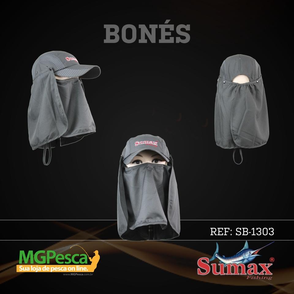 Boné Sumax com proteção UV e protetor de nuca, orelha e face(removíveis) - SB-1303  - MGPesca