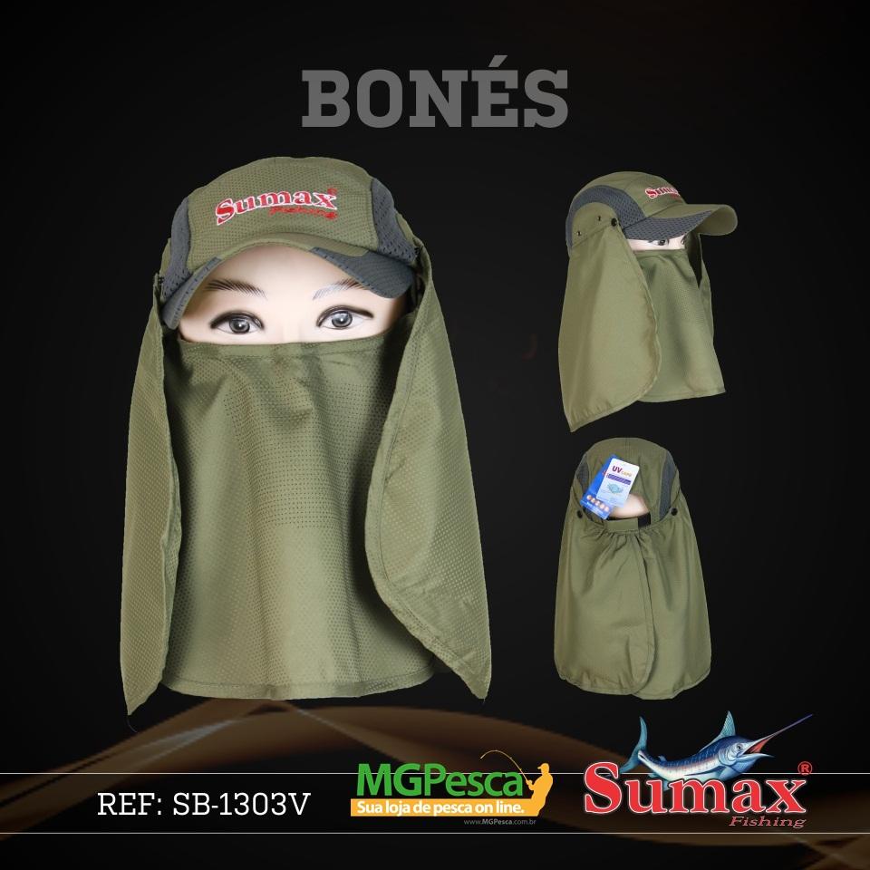 Boné Sumax com proteção UV e protetor de nuca, orelha e face(removíveis) - SB-1303V  - MGPesca