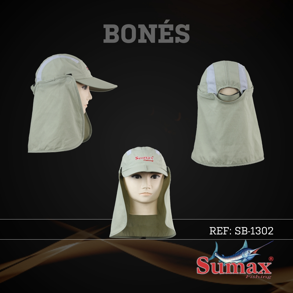 Boné Sumax com proteção UV e protetor de nuca e orelha(removíveis) - SB-1302  - MGPesca