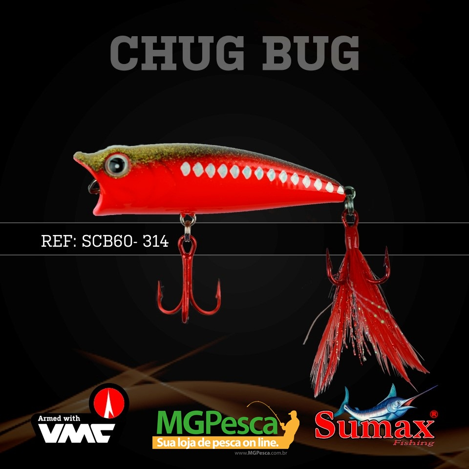 Isca Artificial Sumax Chug Bug 60  - MGPesca