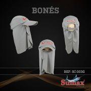 Boné Sumax com proteção UV e protetor de nuca, orelha e face(removíveis) - SC-003G