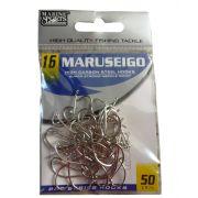 Anzol Marine Sports Maruseigo Nickel - 06 - 08 - 10 - 12 - 14 - 16 - 18 - Pacotes com 50 unidades