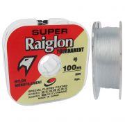 Linha Monofilamento Super Raiglon Tournament Branca 100m
