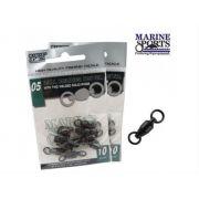 Girador Marine Sports Black Nickel com rolamento 70 Lbs - Tamanho 04 com 15 unidades