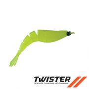 Isca Artificial Big Ones Camarão Soft Twister 8 cm