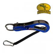 Alicate Pega Peixe Metal Azul Lizard Fishing com salva espiral 16,5cm - LA05