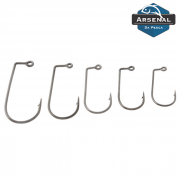 Anzol Arsenal da Pesca 32786 Jig 90º Black Nickel - 10 unidades