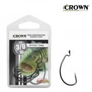 Anzol Crown Offset EWG Black