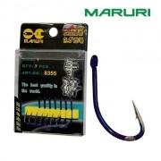 Anzol Maruri 8355 Blue Nickel - Cartela com 7 ou 8 unidades