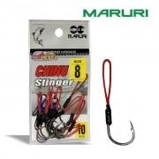 Anzol Maruri Chinu Stinger Suport Hook Black Nickel - Cartela com 10 unidades
