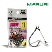 Anzol Maruri Chinu Suport Hook Encastoado Black Nickel - Cartela com 10 unidades