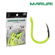 Anzol Maruri Jigging Hook Aqua L50901 Yellow Lemon - Cartela com 06 unidades
