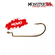 Anzol Monster 3X Offset EWG Worm Hook - Cartela com 03 unidades