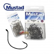Anzol Mustad Wide Gap Hook Black Nickel 37160-BN - Cartela com 50 unidades