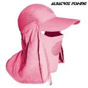 Boné Albatroz Camp Rosa - Proteção de Pescoço e Rosto
