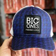 Boné Big Ones - Frontal Azul com tela branca