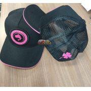 Boné Vida de Pescador - Premium Black/Pink BPM 009