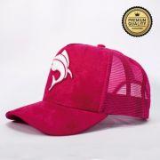 Boné Vida de Pescadora - Premium Sued Rosa BPM 001
