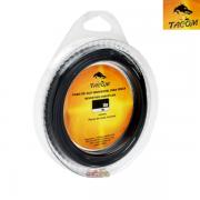 Cabo de Aço Tacom para pesca revestido com nylon Black com Luvas - 10m