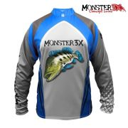 Camisa Monster 3X - New Fish 03 ( TUCUNARÉ AZUL )
