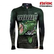 Camiseta BRK Fishing C0209 - 50 UP Black Bass com FPS 50+