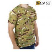 Camiseta Dacs Manga Curta Camuflada - Multicam