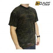 Camiseta Dacs Manga Curta Camuflada - Multicam Black