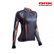 Camiseta Feminina BRK Fishing C0148  Orange Black 1.0 - Girl Fish FPS 50+